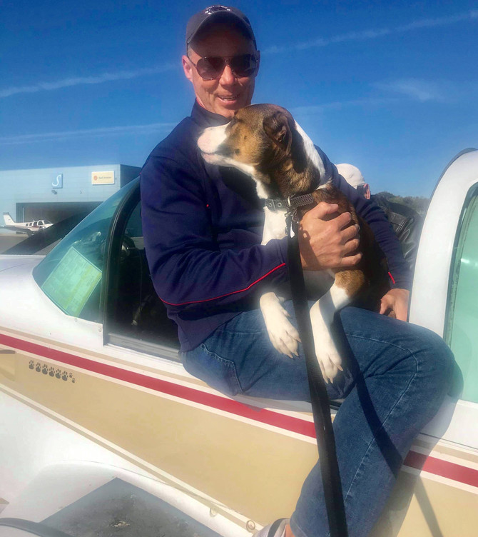 A 2 dog Pick up for CrisisDogsNC Freedom Flight