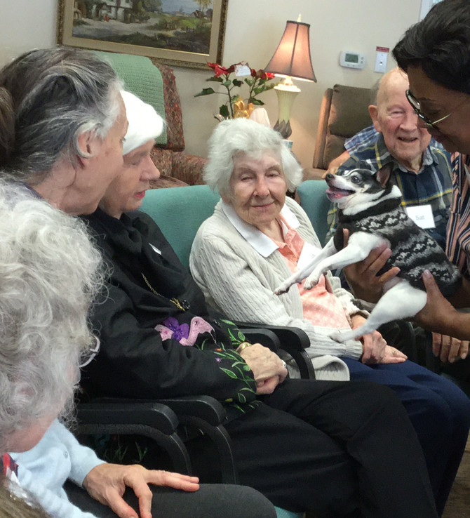 CrisisDogsNC visits The Charles Eldercare House