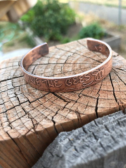 Save the bees Copper Cuff