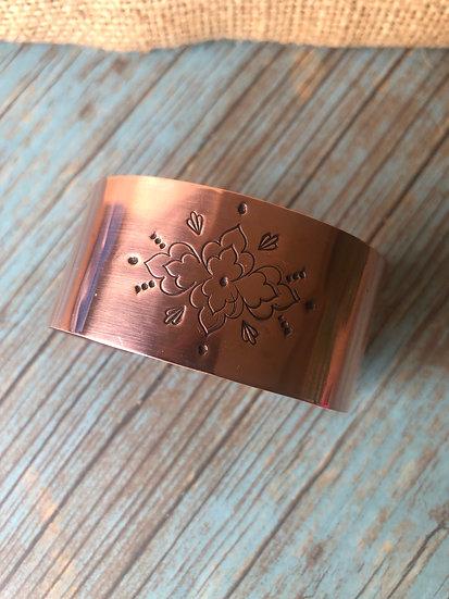 Copper Mandala stamped cuff