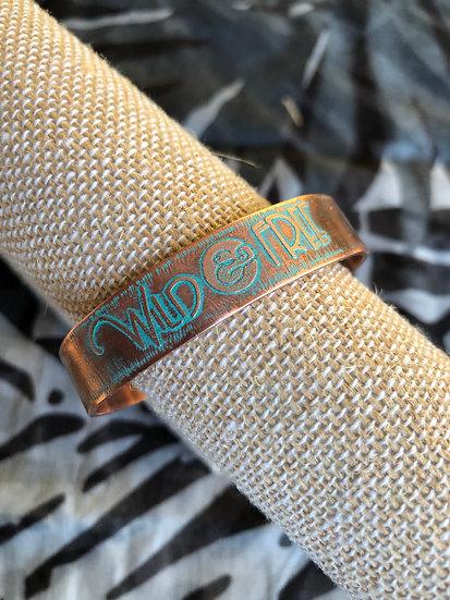 Wild & Free Copper Cuff