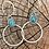 Thumbnail: Turquoise hoops