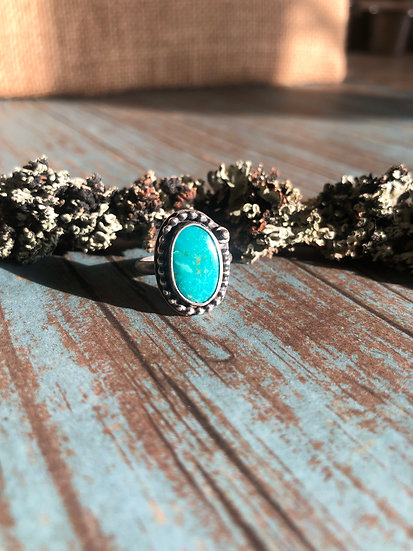 Little Turquoise w/ball on disc Ring