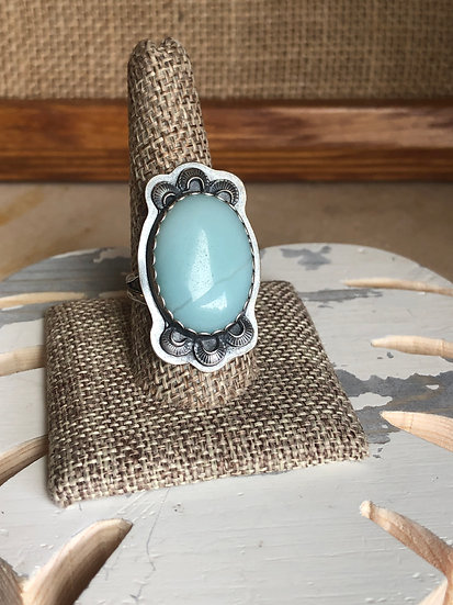 Amazonite with stamped detail