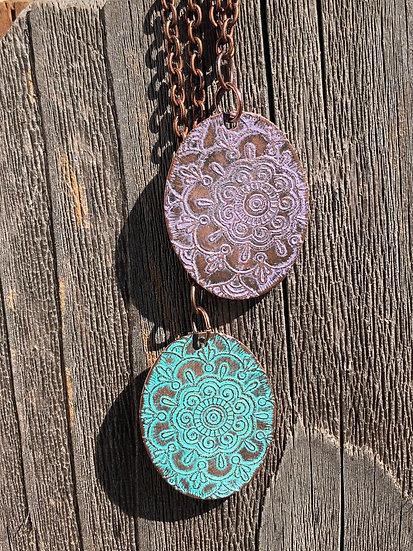 Copper Mandala Pendant