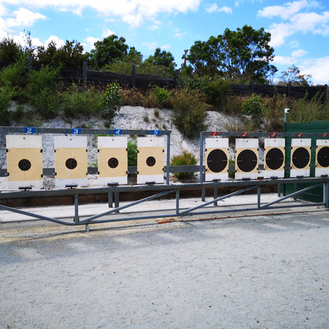 25m range set up for Centre Fire