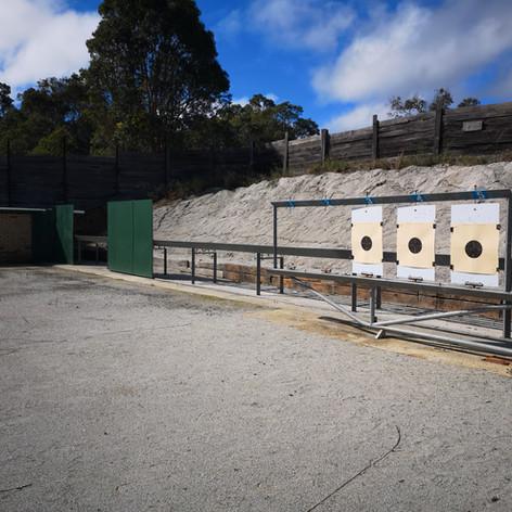 25m range set up for Standard