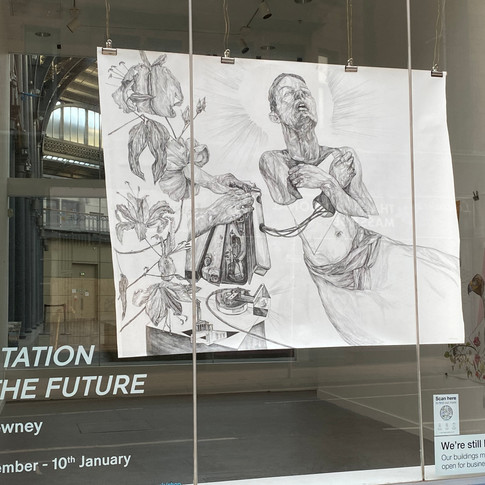 Solo Art Exhibition and installation of 8 large scale drawings ' Levitation to the future' The Briggait Wasps Studios Dec 10th 2020- March 10th 2021.