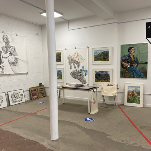 New Glasgow Society East April 2021. Exhibition/art market.