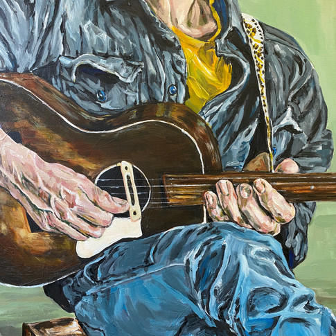 'Musician in the trance' Detail 2021. For sale