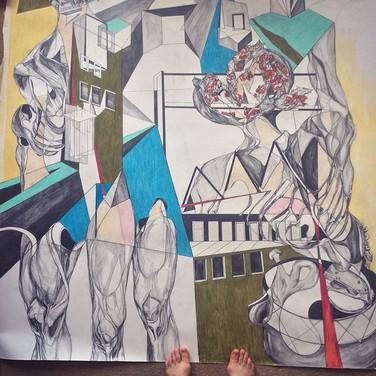 'Anatomical Folly'2017. Iona Kewney.