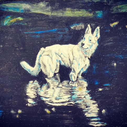 'Ghost Dog' 2020. SOLD.