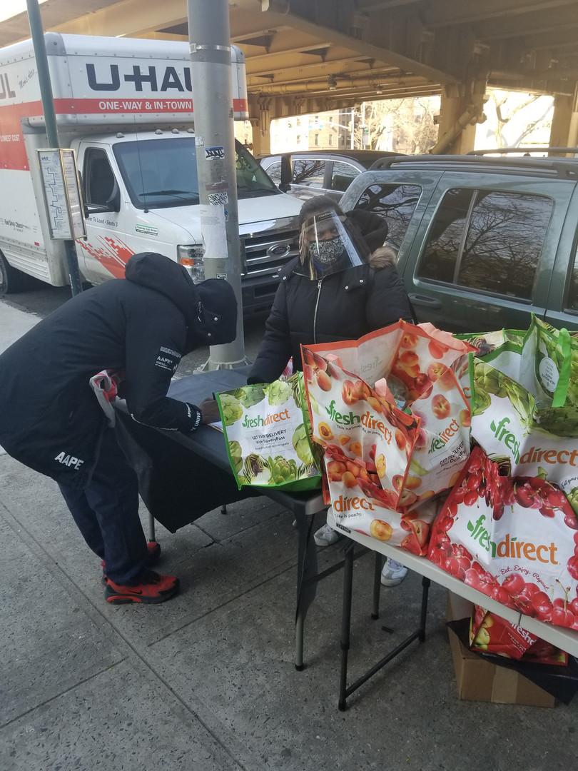 MLKDay of Service food distribution