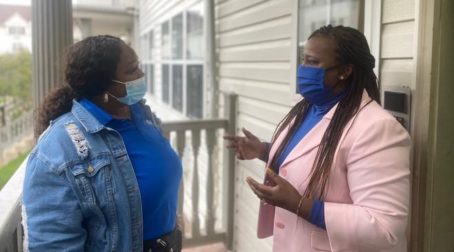 Pearlene Fields speaking with Isha