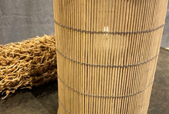 Windlicht Bambus