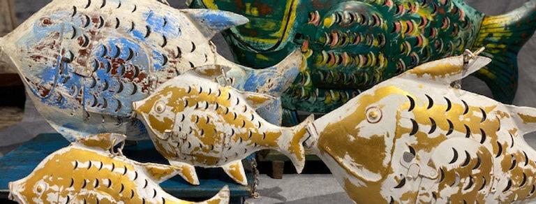Fisch Windlicht Metall