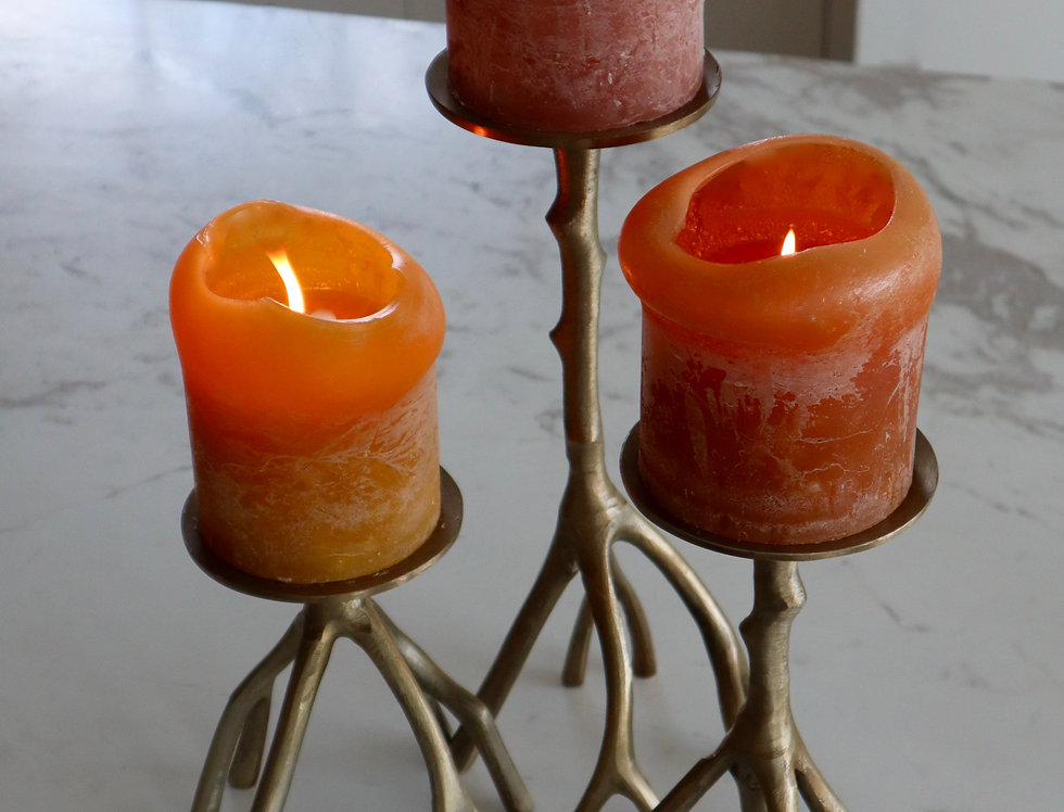 Kerzenständer Metall 2er Set