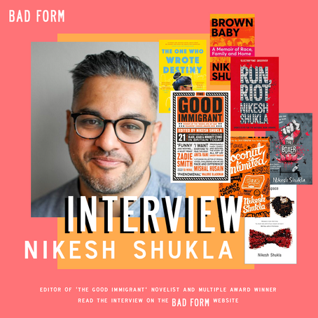 """You can change a teenager's life,"" an interview with Nikesh Shukla"