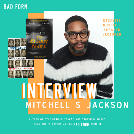 """I have never had pure pleasure from reading,"" an interview with Mitchell S. Jackson"
