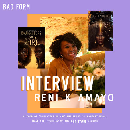 """My feelings on current affairs bleed into my writing"" an interview with Reni K Amayo"