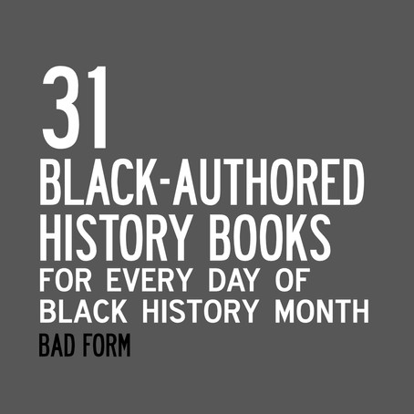 31 BOOKS FOR BLACK HISTORY MONTH