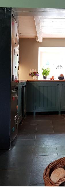 Blick zur neuen Küche