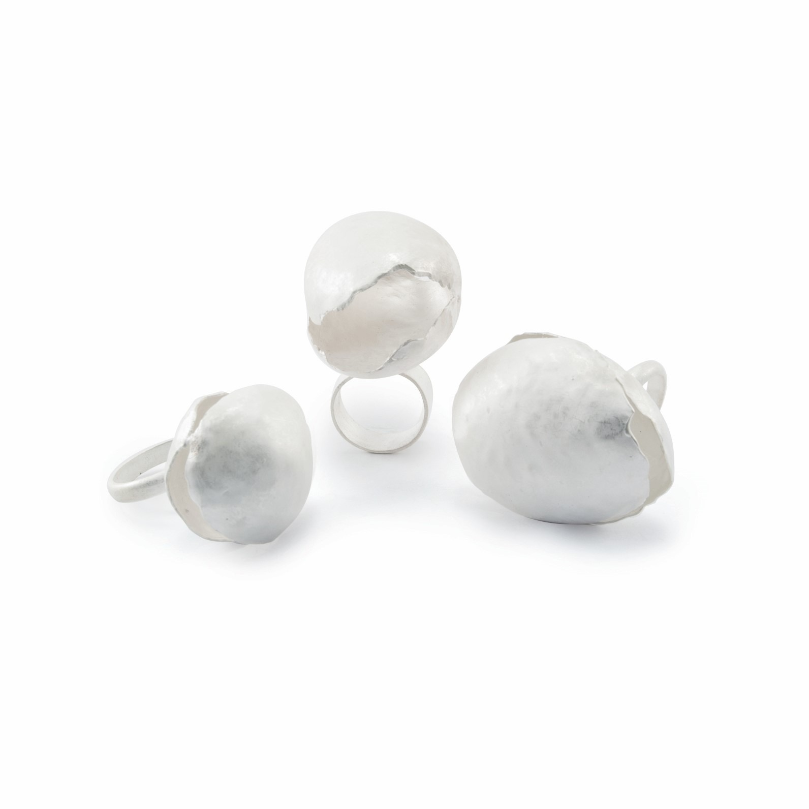 Sterling silver orb rings