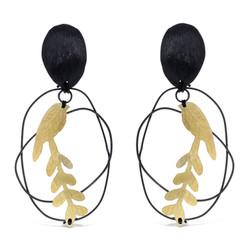 Bird leaf earrings