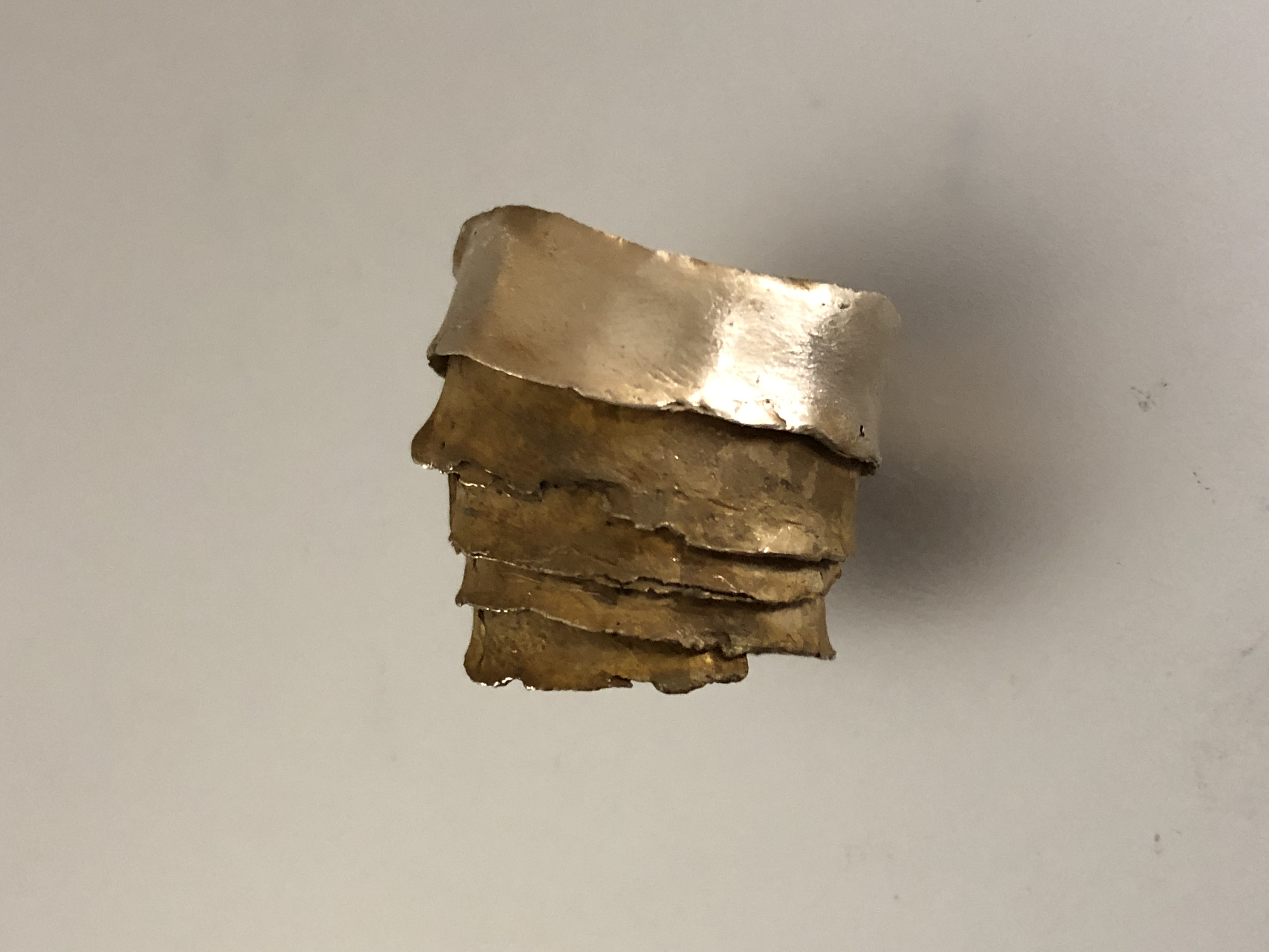 Bronze wedding cake wrap ring