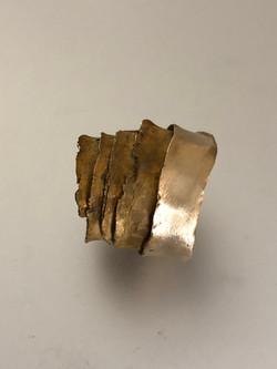 Bronze wedding cake wrap ring