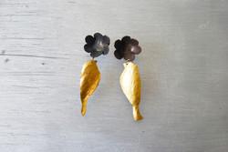 Botanical bird earrings