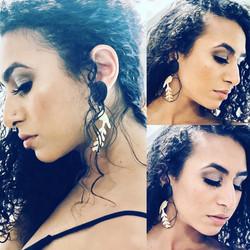Framed bird earrings