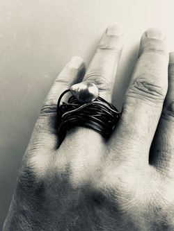 Infinity pearl ring