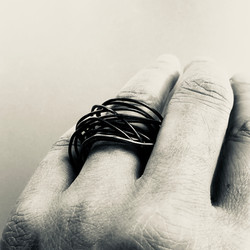 Oxidized infinity ring
