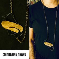 24KY gold leaf necklace