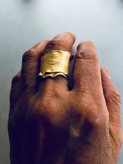 Gold plated organic wrap ring