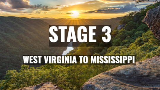 West Virginia to Mississippi