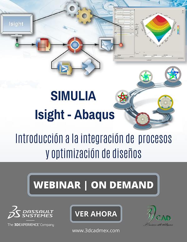 Webinar Simulia Isight Abaqus On Demand.