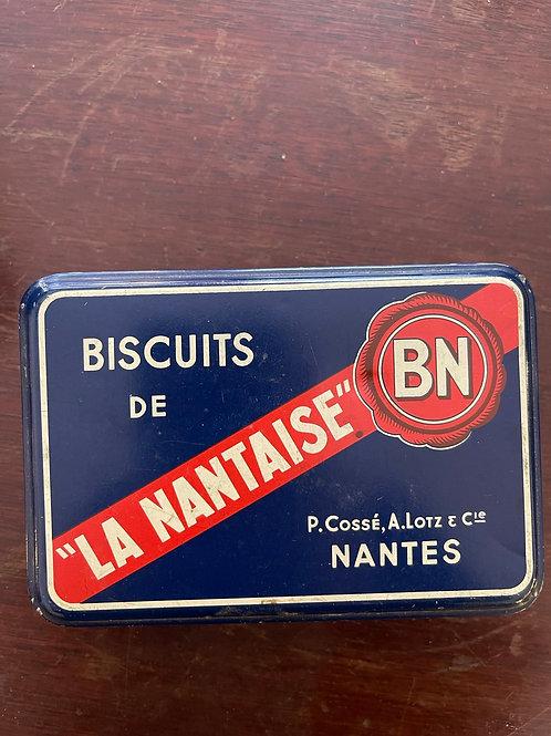 Boîte métal Biscuits La Nantaise BN