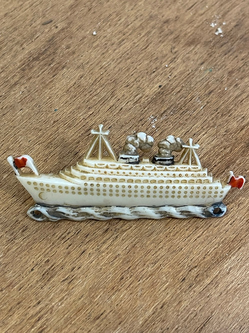 Broche bateau 1950