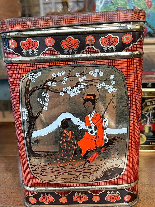 Grande boîte à thé en métal