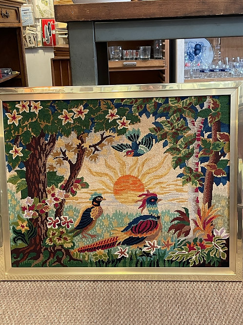 Grand canevas aux oiseaux