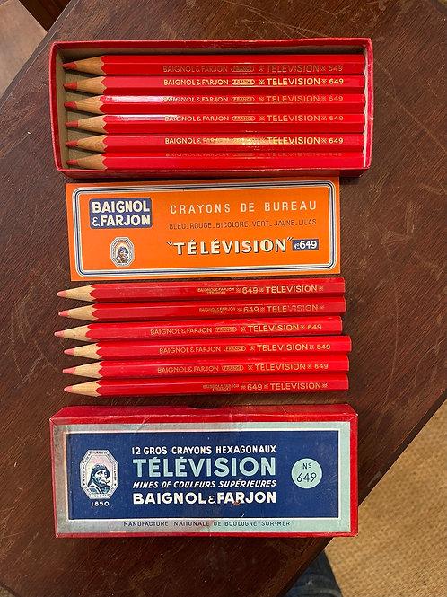 Boîte de 12 gros crayons rouges