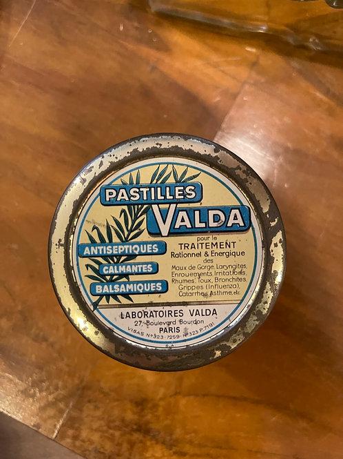 Boîte métallique Pastilles Valda
