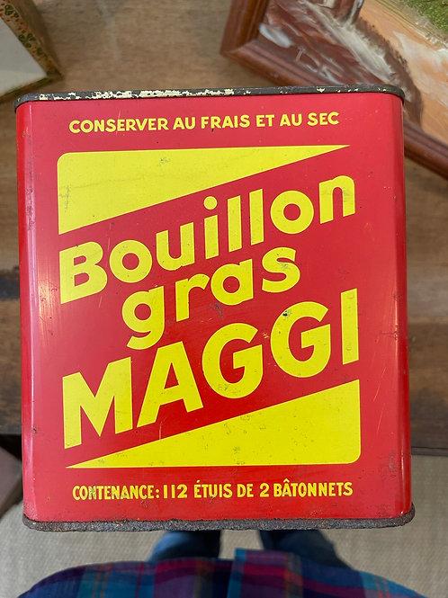Boîte en métal Bouillon gras maggi