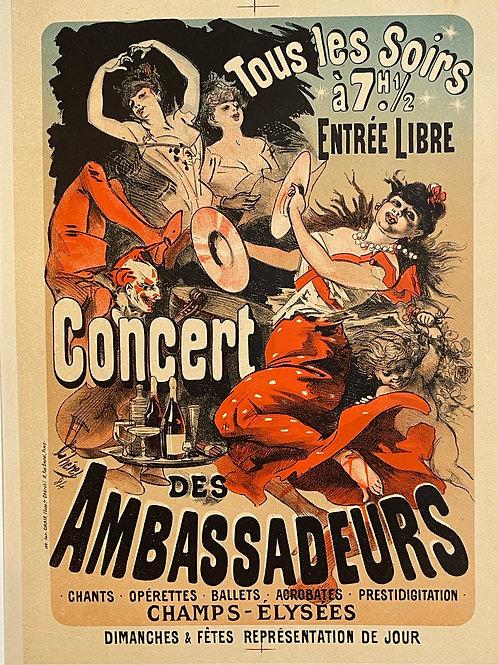 Epreuve d'essai de Jules Chéret, fin XIXème