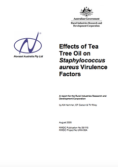 RIRDC 10 - Effects of Tea Tree Oil on St