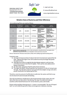 Relative Sizes of Bacteria & Filter Effi