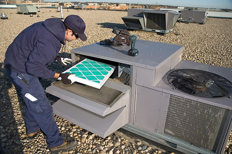 HVAC Contractor Service air exchange uni