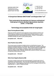Comparison Original Safe T air v Bactiga